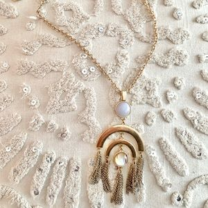 SugarFix Bauble Bar Gold Tassel Necklace